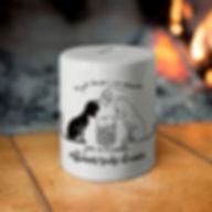 hucha ceramica perro gato