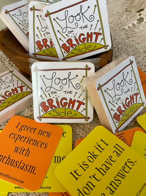 Look On The Bright Side Affirmation Cards