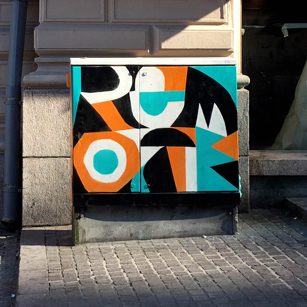 Remote - painted electric box