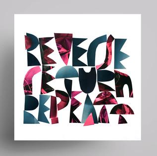 reverse return repeat / paper collage