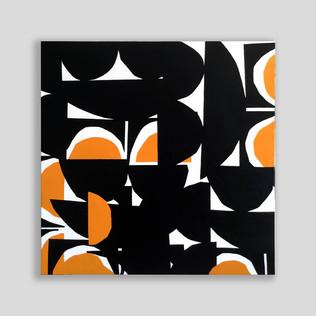 abstract sunrays 90 x 90 cm