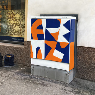 frenzy - painted electric box