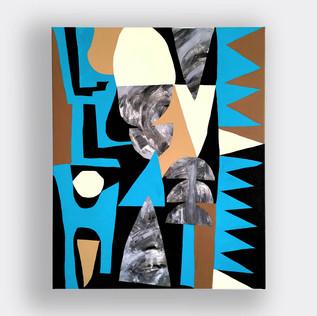 love / hate / 50 x 60 cm