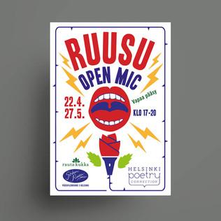 Ruusu open mic event