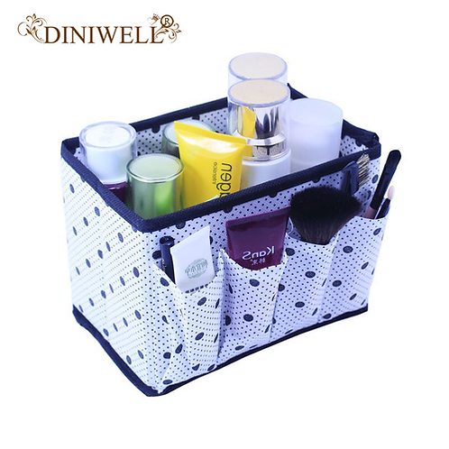 DINIWELL High Quality Folding Multifunction Make Up Storage Box Container Large