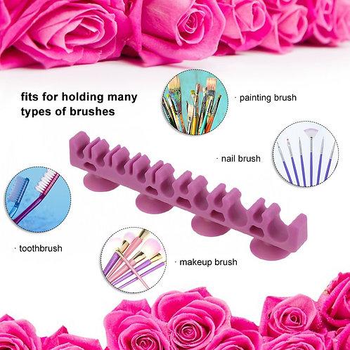 1Pcs Silicone Makeup Brush Holder Organizer Make Up Brush Drying Rack Brushes
