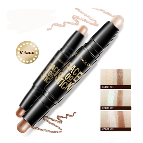 BIOAQUA Brand Double Head 3D Bronzer Highlighter Stick Face Makeup Concealer Pen
