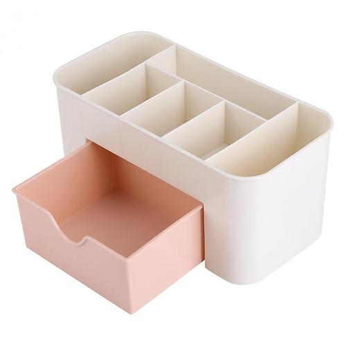 Plastic Storage Box Makeup Organizer Case Drawers Cosmetic Display Storage