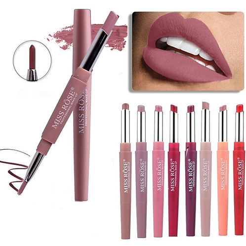 8 Color Double-end Lip Makeup Lipstick Pencil Waterproof Long Lasting Tint Sexy