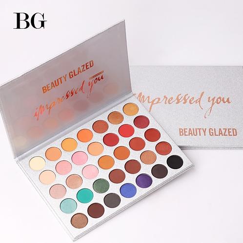Beauty Glazed 35Color eyeshadow pallete Glitter Makeup Matte Eye shadow Long-las