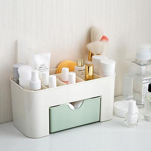 Pink Blue Green Plastic Makeup Organizer Make Up Brush Storage box with Drawer