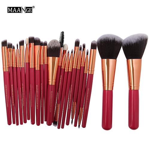 MAANGE 20/22Pcs Beauty Makeup Brushes Set Cosmetic Foundation Powder Blush Eye