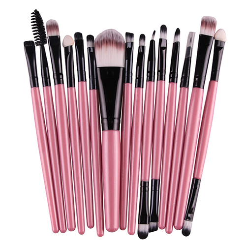 MAANGE Pro 15Pcs Makeup Brushes Set Eye Shadow Foundation Powder Eyeliner Eyelas