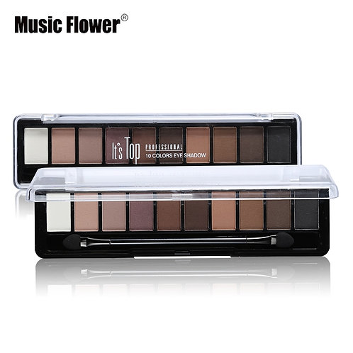 Professional Makeup Brand Earth Color 10 Colors Eyeshadow Palette Glitter Eye