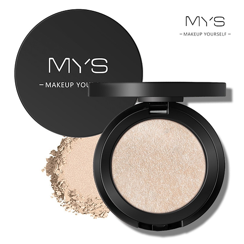MYS brand professinal face makeup 6 color bronzer and highlighter palette powder