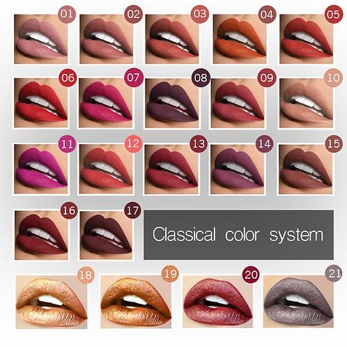 2nd PUDAIER Nude Sexy Lipstick Metallic Lip Gloss Long Lasting Pigment Matte