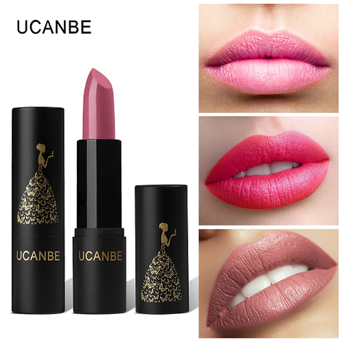 UCANBE Brand 8 Colors Moisturizing Smooth Lipsticks Makeup Matte Shimmer