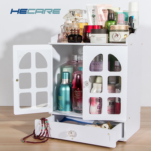 Europe Style Plastic Make Up Storage Organizer Eco-friendly Home Jewelry Box