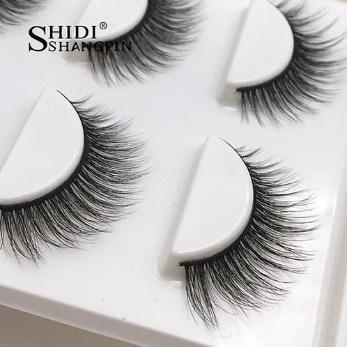 New 3 pairs natural false eyelashes fake lashes long makeup 3d mink lashes