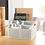 Thumbnail: Multi-Purpose Desktop Organizer Plastic Makeup Storage Box Case Pen Pencil