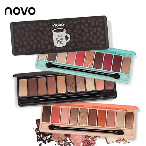 NOVO Fashion eyeshadow palette 10Colors Matte EyeShadow naked palette Glitter