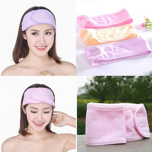 1Pc Wash Face Makeup SPA Hair Band Womens Sweat Elastic Soft Headbands Washing P