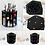 Thumbnail: 360 Rotating Makeup Organizer Storage Box Adjustable Plastic Cosmetic Brushes