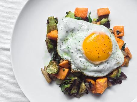 Sweet Potato + Brussels Breakfast Hash