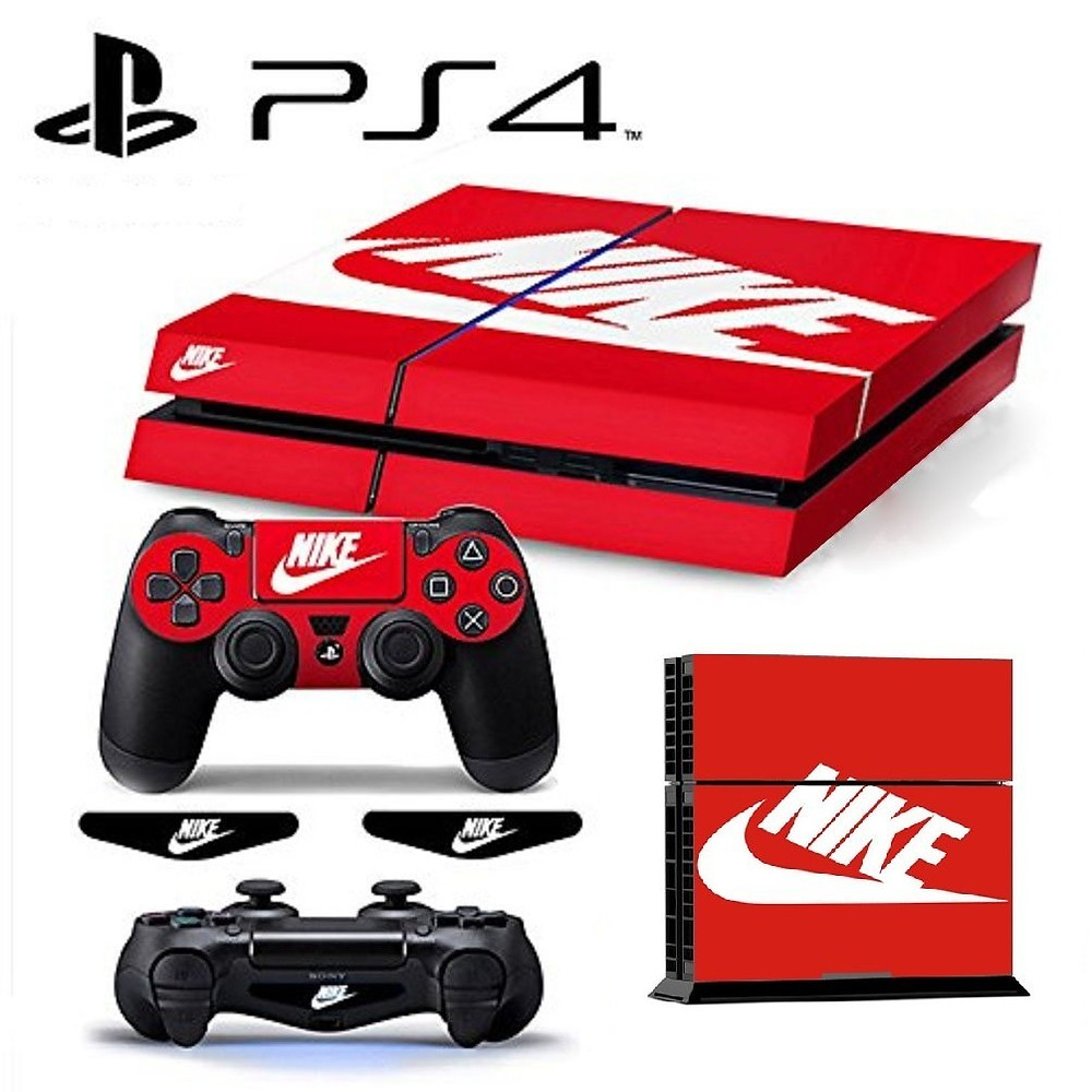 A ps4 skin that turns the console into a Nike shoebox