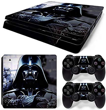 A star wars playstation skin showing Vader´s steely gaze towards the player