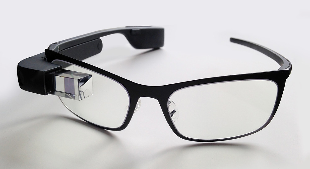 A photo of Google Glass by Mikepanhu on Wikimedia