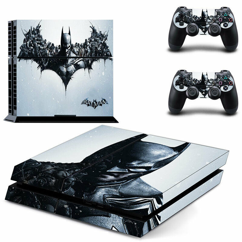 An Xbox One Skin for the console and controllers designed after Batman and his bat logo