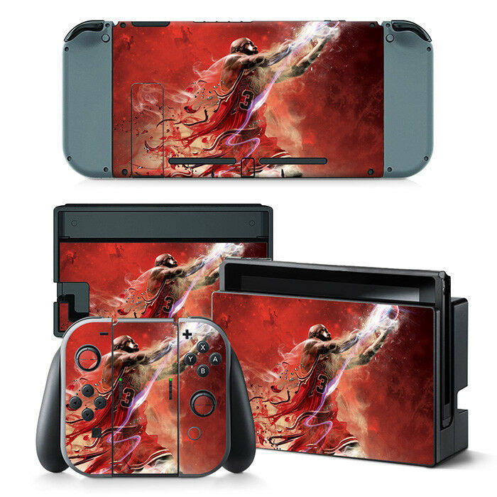A series of skins and decals that adorns the Nintendo Switch, Joy-Con and dock themed around Michael Jordan