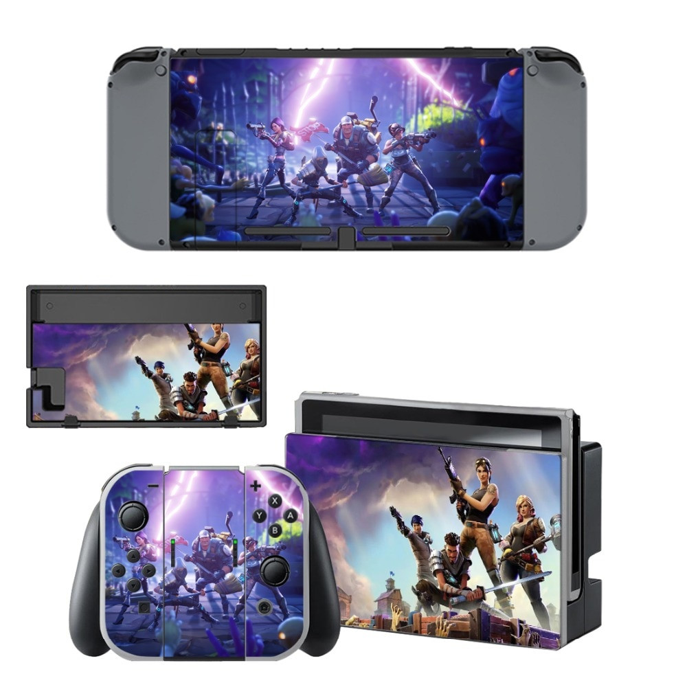 A series of skins and decals that adorns the Nintendo Switch, Joy-Con and dock themed around Fortnite