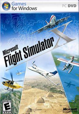 The boxart for Microsoft Flight Simulator X