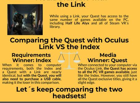 Oculus Quest 2 vs Valve Index (Infographic)