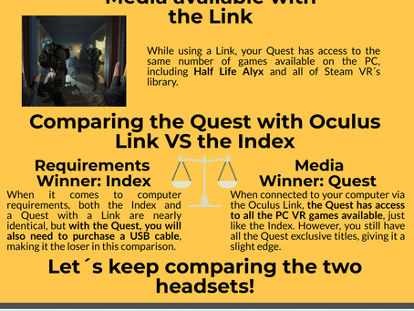 Oculus Quest vs Valve Index (Infographic)