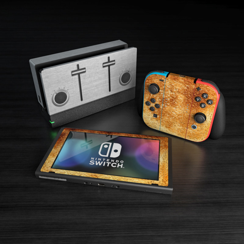 A series of skins and decals that adorns the Nintendo Switch, Joy-Con and dock themed around bread