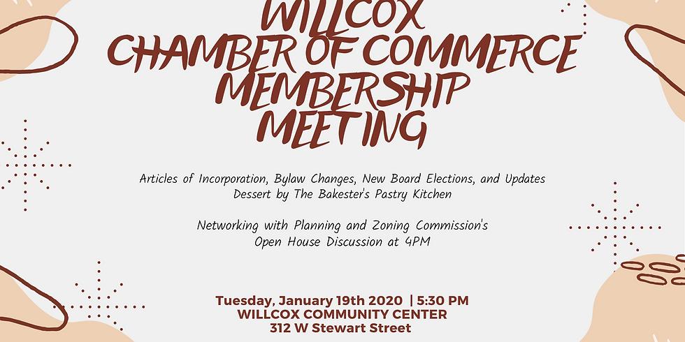 2021 Willcox Chamber of Commerce Membership Meeting