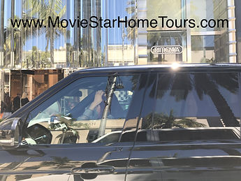 Priscella Presley in her Range Rover on Rodeo Drive in Beverly hills.