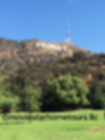 Hollywood Sign as scene on the Celebrity Hollywood Homes Tour.