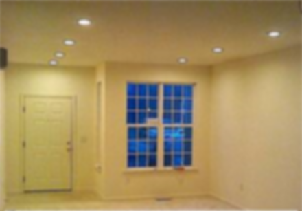 Empty apartment living room with new l e d recessed lighting