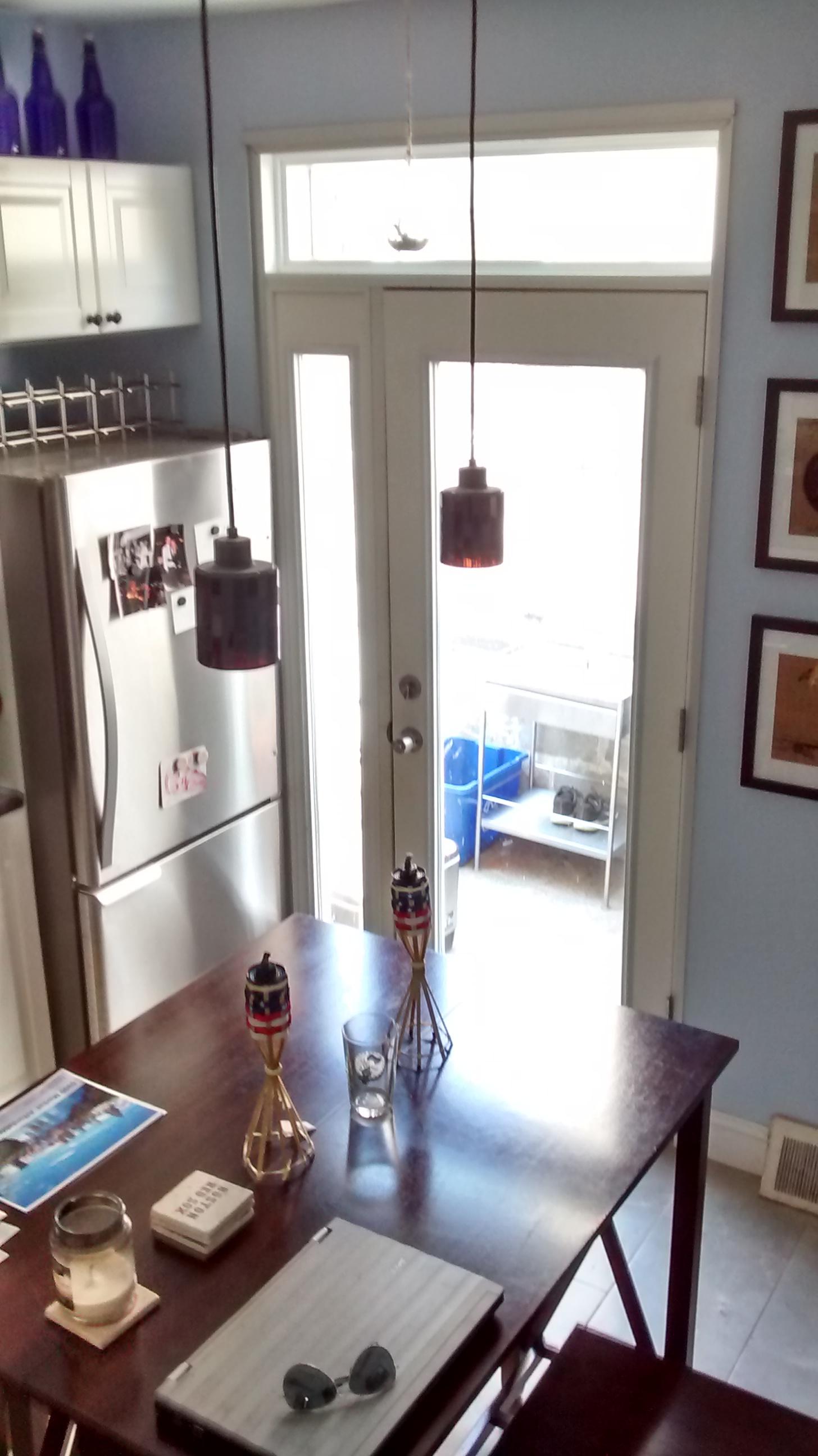 New Kitchen door and lights