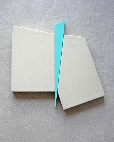 Sem título. Série Recortes. Fórmica e linho. 45 x 50 x 4,5 cm