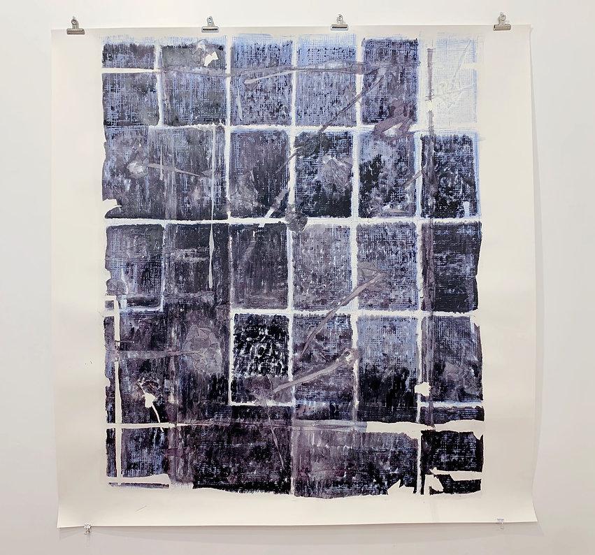 Sem título. 2020. Técnica mista sobre papel. 154 x 150 cm