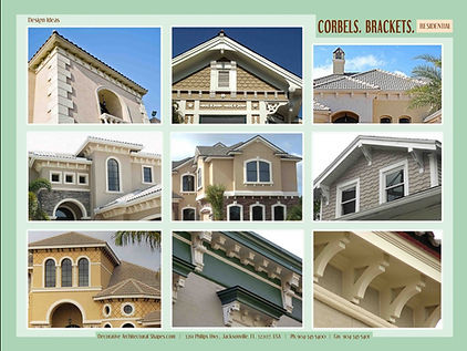 RESIDENTIAL corbels brackets 2b