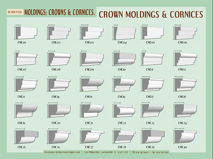 RESIDENTIAL moldings cornice crown 1a