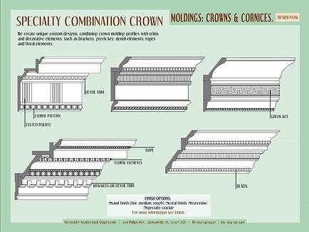 RESIDENTIAL moldings cornice crown 3b