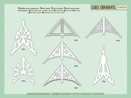 RESIDENTIAL gable ornaments 2