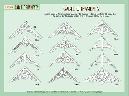 RESIDENTIAL gable ornaments 1